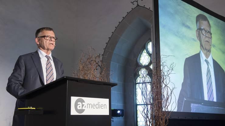 «Ein Meilenstein in der Geschichte der AZ Medien»: So sprach Peter Wanner vom bevorstehenden Joint Venture mit den NZZ Regionalmedien.