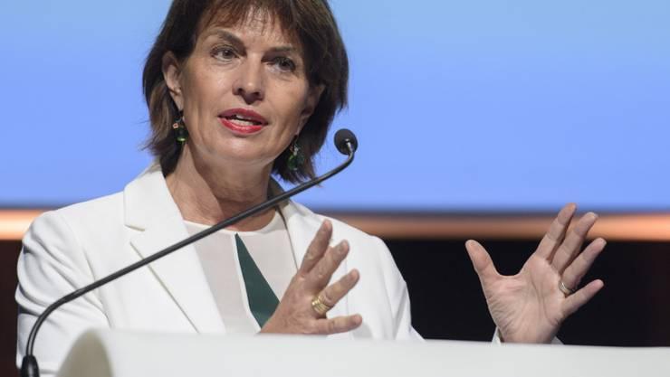 """""""Wir sind bereit, unsere Rolle als Vermittler anzubieten"""", sagt Bundespräsidentin Doris Leuthard. (Archivbild)"""