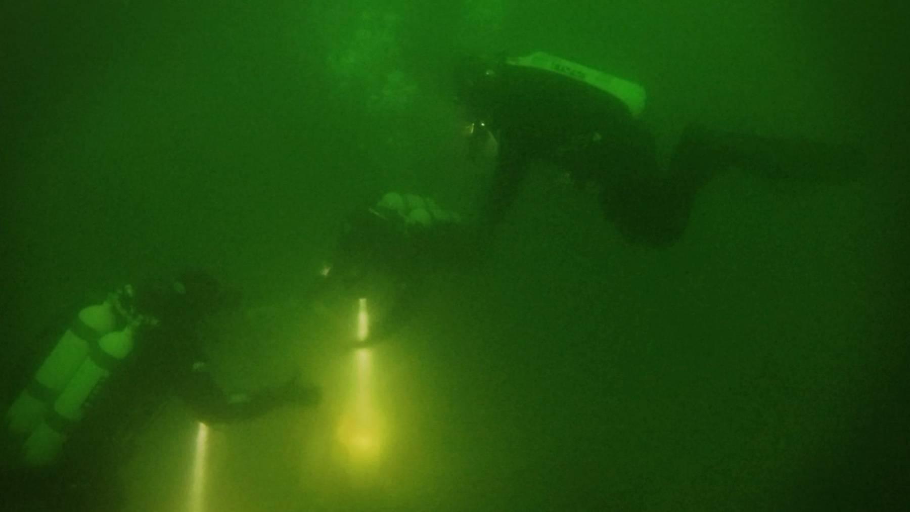 Die Seepolizei hat am Donnerstag für den Ernstfall trainiert.