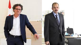 Bundesgerichtspräsident Daniel Kipfer (l.) und der Erste Staatsanwalt Alberto Fabbri (l.).