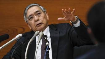 Haruhiko Kuroda, Präsident der Bank of Japan, deutet mögliche weitere Lockerung der Geldpolitik an. (Archiv)