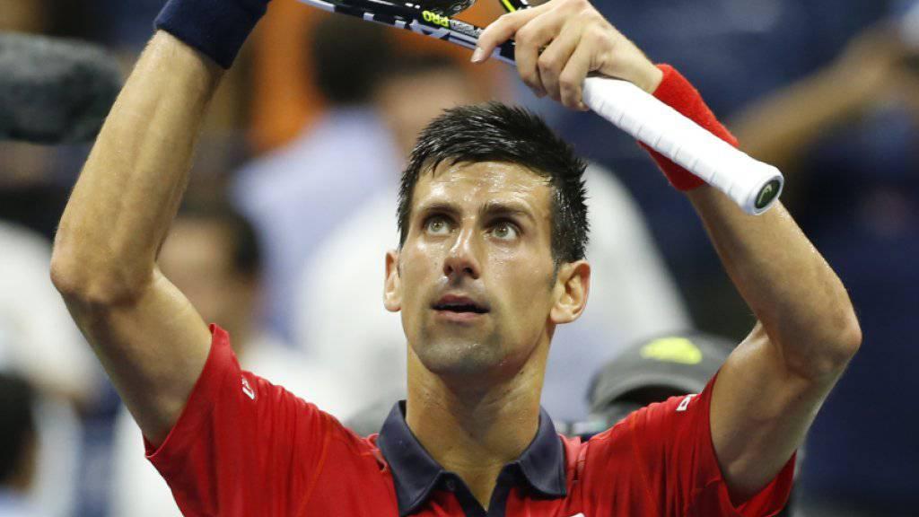 Am US Open problemlos in der 3. Runde: Novak Djokovic