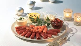 Die Fleischröllchen sind in der Schweiz an Weihnachten ein Klassiker.