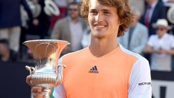 Alexander Zverev gewinnt in Rom seinen ersten grossen Pokal