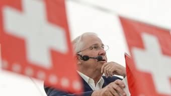 Christoph Blocher an der Bundesfeier 2014. (Archiv)
