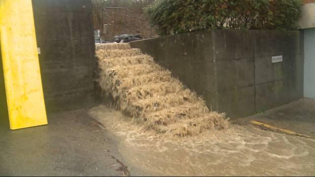 Überschwemmungen drohen dem Mittelland