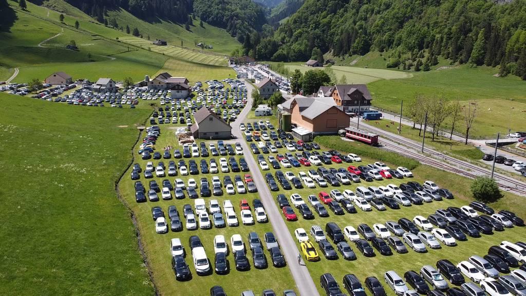 Alles wanderte durch den Alpstein – Parkplatz Wasserauen gesperrt