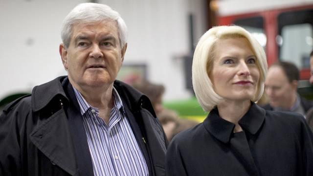 Newt Gingrich mit Ehefrau Callista in Iowa