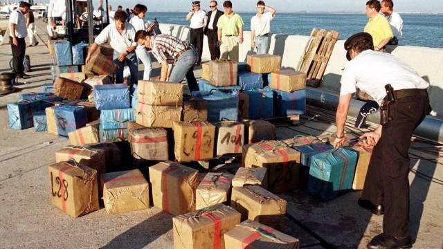 Mit Haschisch gefüllte Pakete in Spanien (Symbolbild)