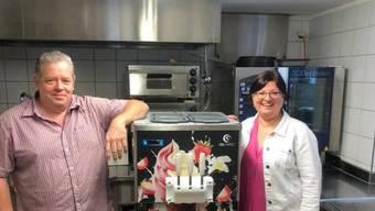 Stephan und Ivonne Haarbach haben sich im Restaurant Bären in Veltheim einen Namen gemacht mit Burgern und selbst gemachter Glace.