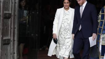 Gehen mit der Zeit: Prinz Harry und Ehefrau Meghan haben seit Dienstag einen gemeinsamen Instagram-Account. (Archivbild)