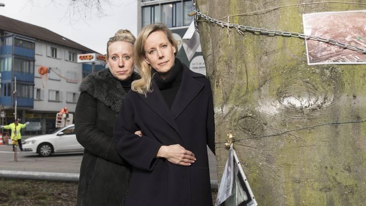 Lilian Hagen und Susanne Porchet kämpften für die Buche in Schlieren