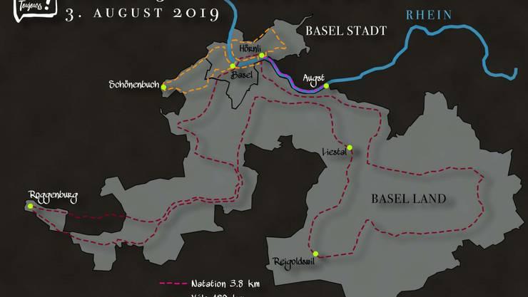 Die 13. Etappe führt ihn durch die beiden Basel.