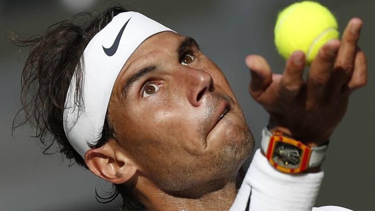 Nadal liegt gegen Federer hinten. Die Uhr an seinem Handgelenk kostet übrigens schlappe 680'000 Franken.