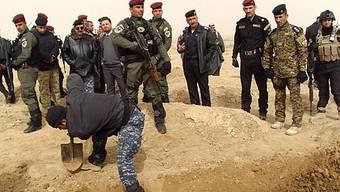 Nördlich von Bagdad wurde das Massengrab entdeckt