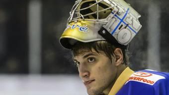 Goalie Remo Giovannini (HC La Chaux-de-Fonds) hexte sein Team in Olten zum Sieg