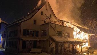 Scheunen- und Einfamilienhausbrand in Ziefen, 16.01.2021