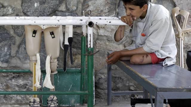 Tausende Menschen wurden beim Krieg in Afghanistan verletzt