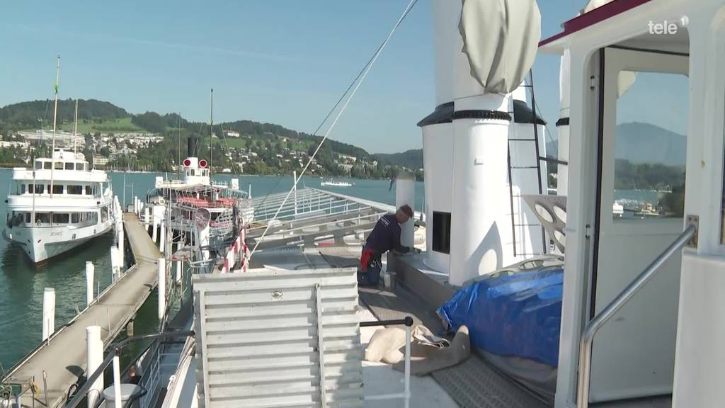 Sanierung des Dampfschiffs «Stadt Luzern» in der Zielgeraden