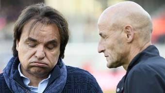 Sie arbeiteten 2016 und 2017 für rund acht Monate zusammen: Sion-Präsident Christian Constantin und Trainer Peter Zeidler, der mittlerweile den FC St.Gallen coacht.
