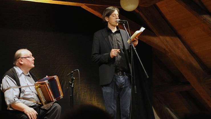 Werner Aeschbacher und Pedro Lenz.