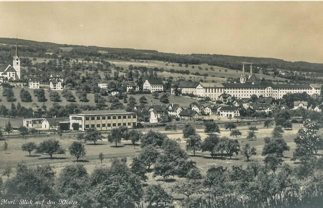 Diese Ansichtskarte von Muri mit Blick auf das Kloster ist nicht datiert. Die dürfte zu Beginn des vorigen Jahrhunderts entstanden sein.