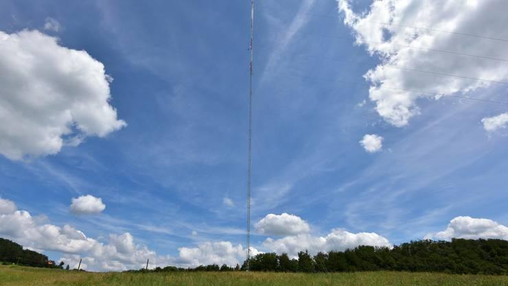 Auf der Wisnerhöchi wurde 2016 ein 99 Meter hoher Mast aufgestellt