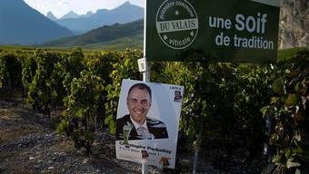 Ein Walliser Original: Werbeplakat von Christophe Darbellay im Nationalrats-Wahlkampf 2011.