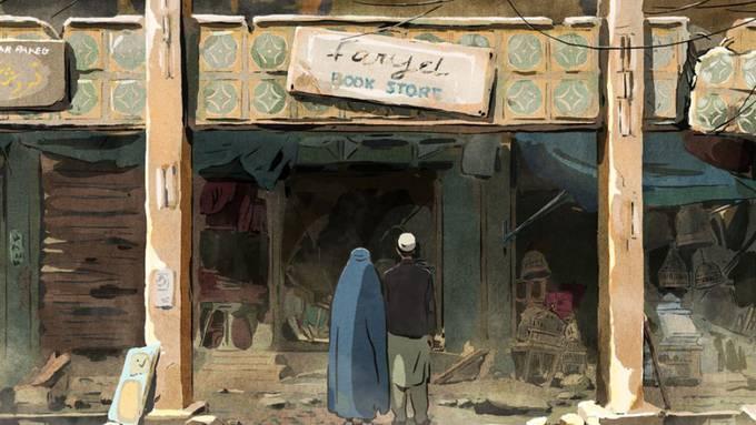 """Der Animationsfilm """"Hirondelles de Kaboul"""" erzählt eine Liebesgeschichte in den Kriegswirren von Kabul. Der Film wird am """"Fantoche""""-Festival erstmals in der Schweiz gezeigt."""