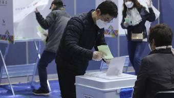 Wahltag in der südkoreanischen Hauptstadt Seoul.