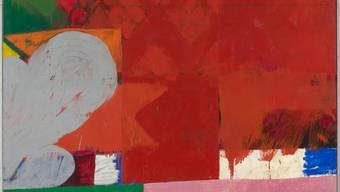 """Samuel Buris Gemälde """"zur Burgunderbeute"""" von 1963 paraphrasiert in umgekehrter Reihenfolge die französische Flagge."""