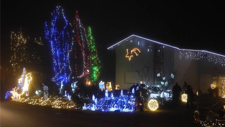 Der Stern von Bethlehem bekommt in Uitikon vielfältige Konkurrenz, wenn es ums Strahlen geht.