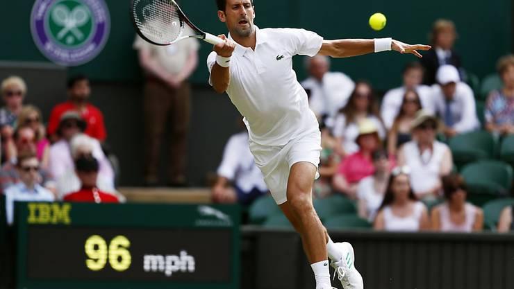 Novak Djokovic wurde in seinem ersten Spiel in Wimbledon kaum gefordert