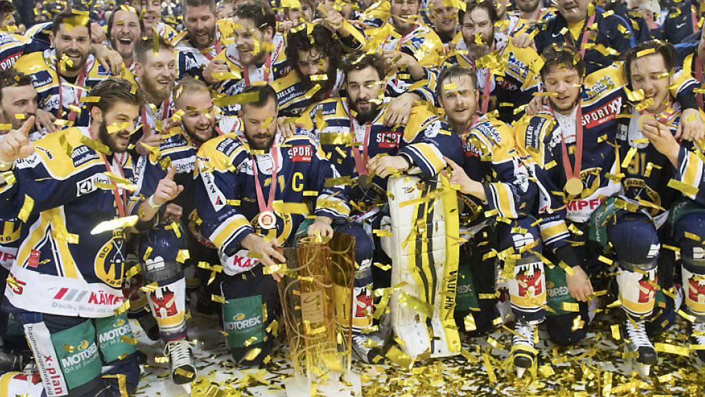 Der SC Langenthal kürte sich zum zweiten Mal nach 2012 zum NLB-Meister