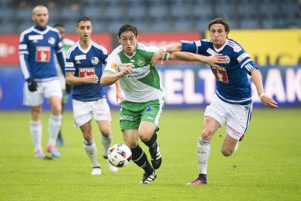 FCSG chancenlos in Luzern (© KEYSTONE/Urs Flüeler)