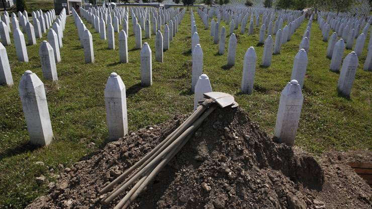 Iim Juli 1995 wurden in und um Srebrenica 8000 Muslime von serbischen Truppen systematisch hingerichtet.