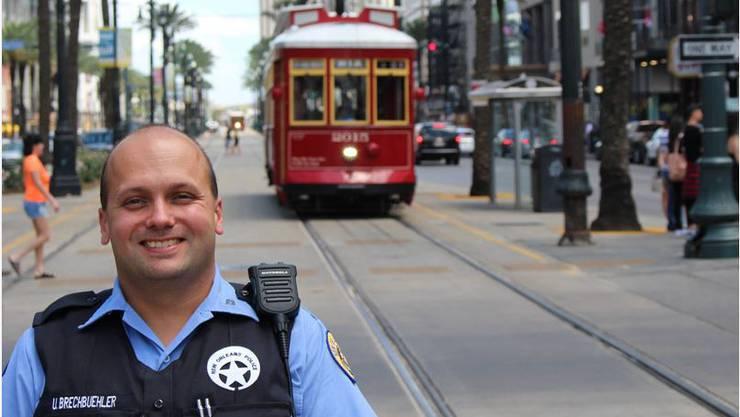 Musste nochmals in die Polizeischule: Urs Brechbühler patrouilliert nun durch New Orleans.