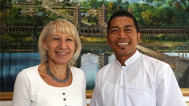 Doris Born und Chork Chhit lancieren das Projekt.