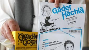 «Gränchner Gosche» und «Gäder Hächlä» nehmen einmal mehr kein Blatt vor den Mund. Foto: Hanspeter Bärtschi
