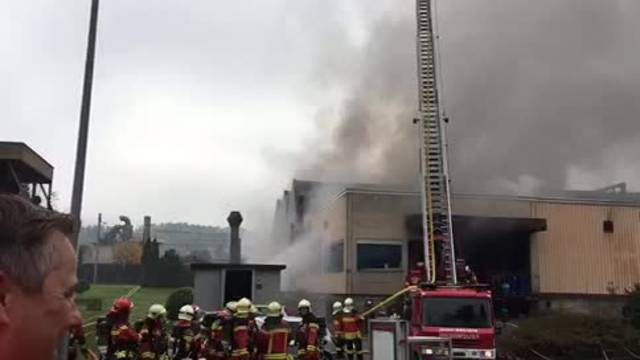 Grossbrand in Dulliken: Feuerwehreinsatz