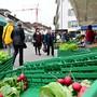 Wochenmarkt Gemüsemarkt Markt Märet Kirchgasse Innenstadt Olten 06-2019
