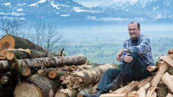 Bauernpräsident Markus Ritter posiert zu Hause in Altstätten SG. (Archiv)