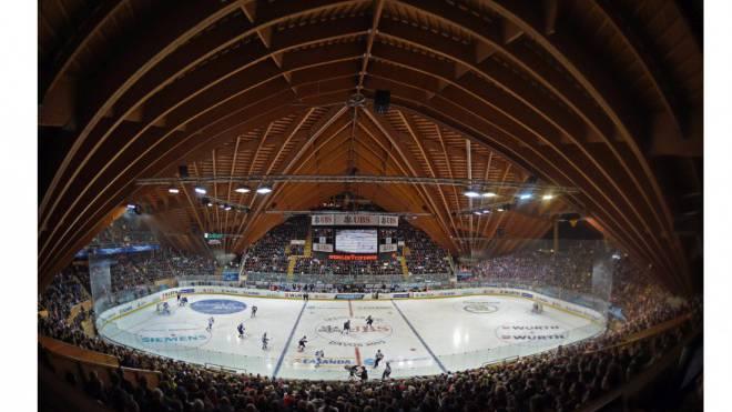 Ein Erfolgsmodell: Die Davoser Vaillant-Arena war gestern Nachmittag in der Partie zwischen Lugano und Mannheim (6:3) bereits ausverkauft.Foto: Keystone