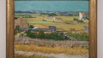 """Das Gemälde """"De Oogst"""" (Die Ernte) von Vincent van Gogh, zu dem jetzt eine gefälschte Vorstudie aufgetaucht ist (Handout Polizei)"""
