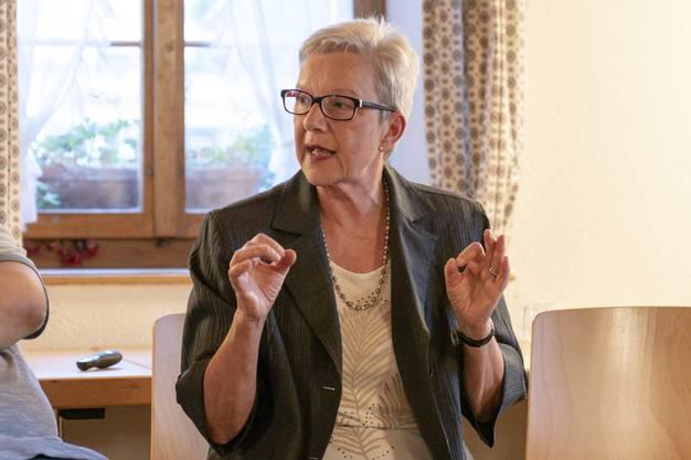 Sie ist die bisherige Amtsinhaberin: Eliane Graf (SVP).