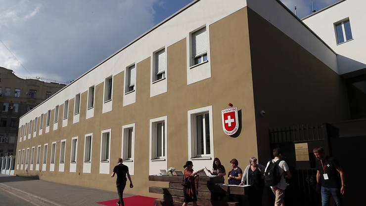 Neu und am Dienstag eingeweiht: Die Schweizer Botschaft in Moskau.