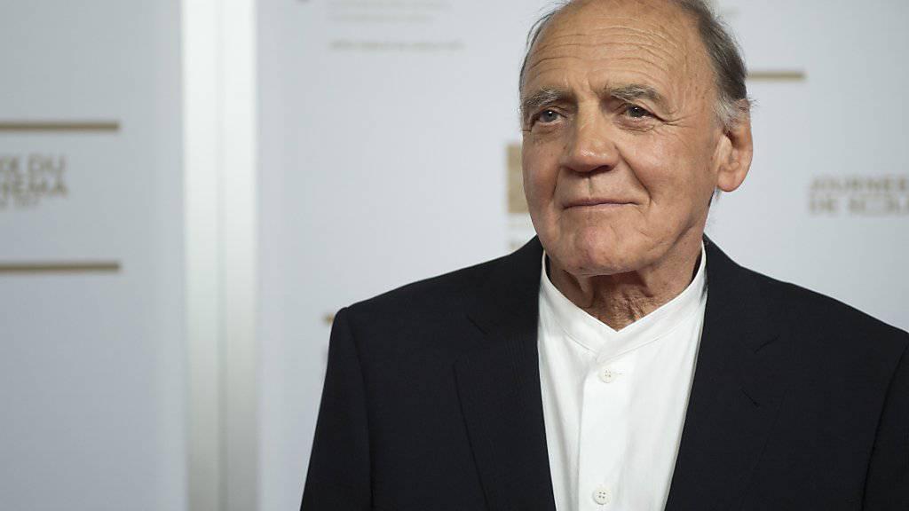 Bruno Ganz bei der Verleihung des Schweizer Filmpreises am Freitagabend in Genf. (KEYSTONE/Martial Trezzini)