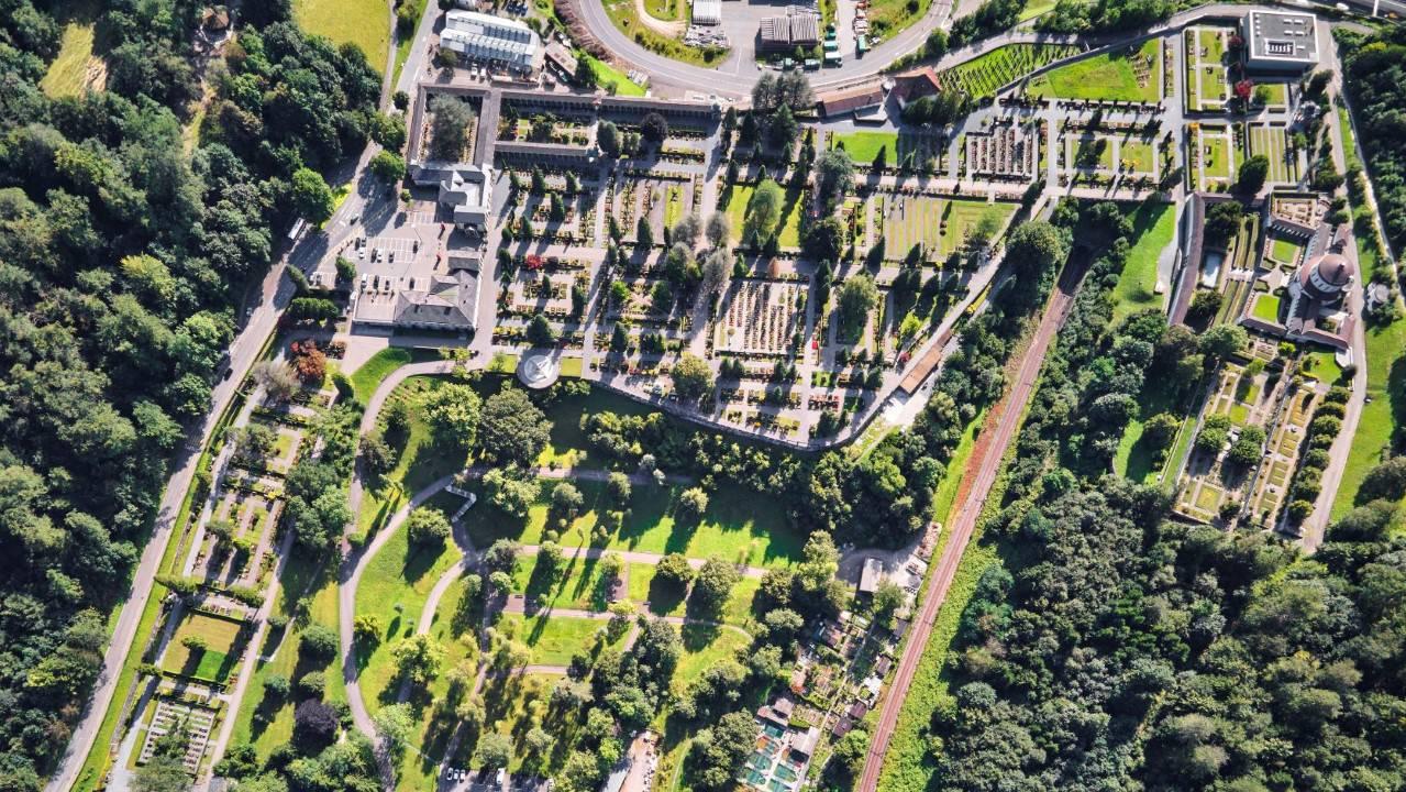 thumbnail_Drohnenbild Friedhof Friedental  (Quelle Stadt Luzern)
