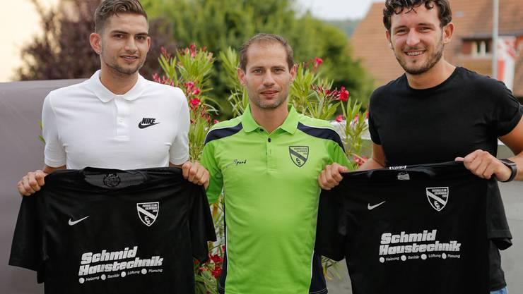 Dominik Nünlist (links), Claudio Della Vecchia (Mitte), Mergim Hasani (rechts)
