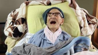 Jiroemon Kimura an seinem 116. Geburtstag (Archiv)